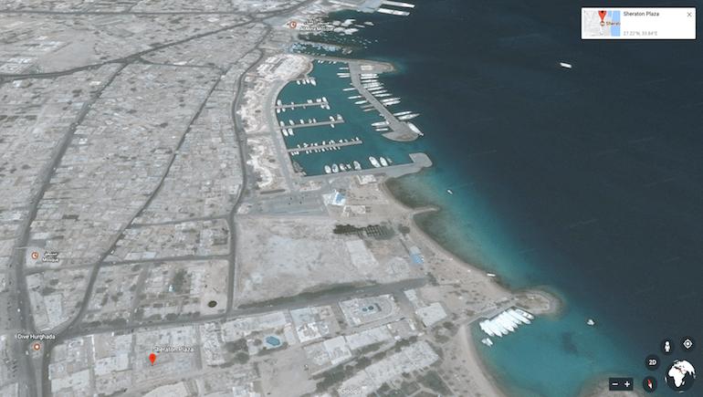 www.apartmentsinhurghada.com - Rental Apartments Hurghada - Sheraton Plaza - Location - Google Earth