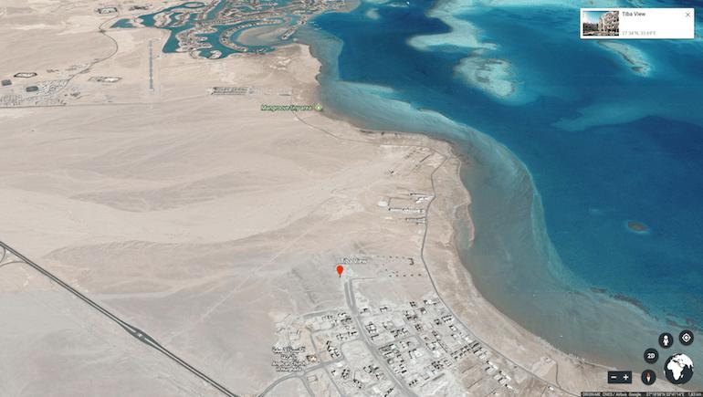 www.apartmentsinhurghada.com - Rental Apartments Hurghada - Tiba View - Location - Google Earth