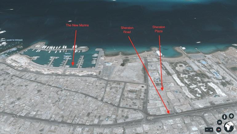 Sheraton Plaza Hurghada - The Location - Holiday Rentals in Hurghada - Rental Apartments - Free WIFI - www.apartmentsinhurghada.com