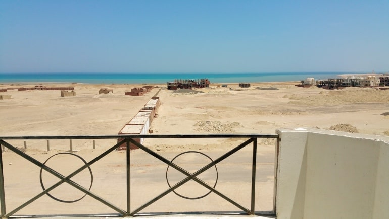 Tiba View Hurghada T89 - The Actual Balcony View