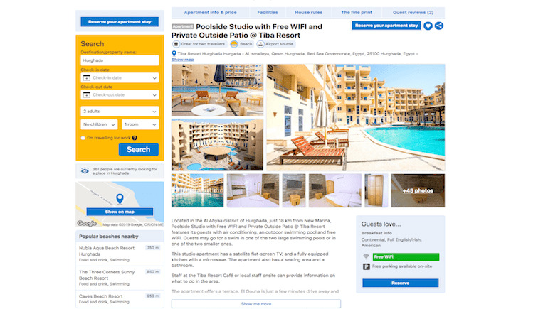 Holiday Rentals in Hurghada With Slam Dunk Reviews on Booking.com - Book Your Stay on www.apartmentsinhurghada.com