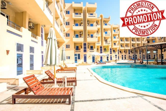 Visit Our Promotions Page For The Best Deals - Book Your Holiday Rental in Hurghada Online - www.apartmentsinhurghada.com