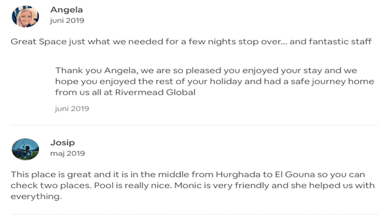 Early 2019 Summer Reviews on AirBnB - Holiday Rentals in Hurghada - Book Online on www.apartmentsinhurghada.com