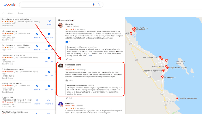 Five Star Review For Our Poolside Holiday Rental During The 2019 El Gouna Film Festival - Book Your Hurghada Holiday Rental on www.apartmentsinhurghada.com