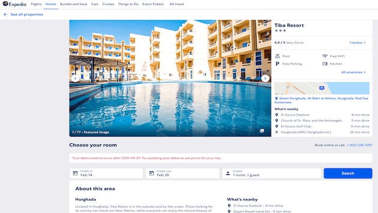 Our First Expedia Review - Book Our Holiday Rentals in Hurghada Online on Expedia - www.apartmentsinhurghada.com