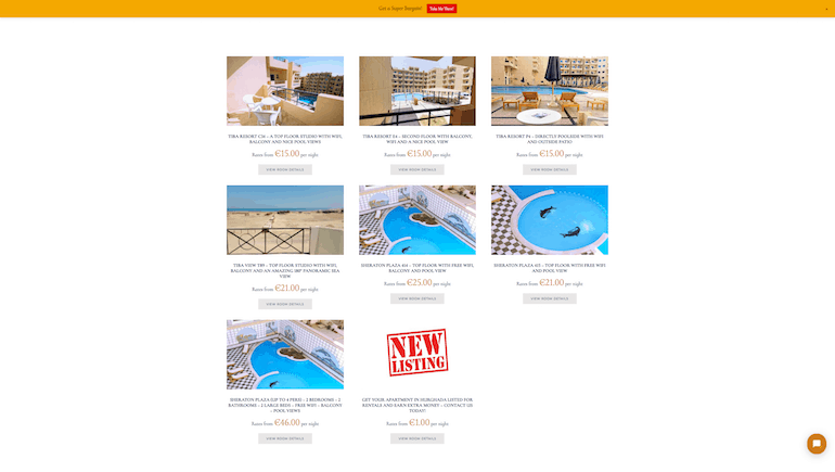 Book a Holiday Rental in Hurghada Directly With Us and Get a Great Discount - www.apartmentsinhurghada.com