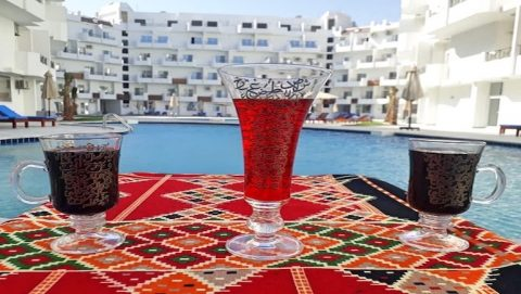 Book a Sea View Holiday Rental in Hurghada at Tiba View - Tiba View Restaurant and Shisha Lounge - www.apartmentsinhurghada.com