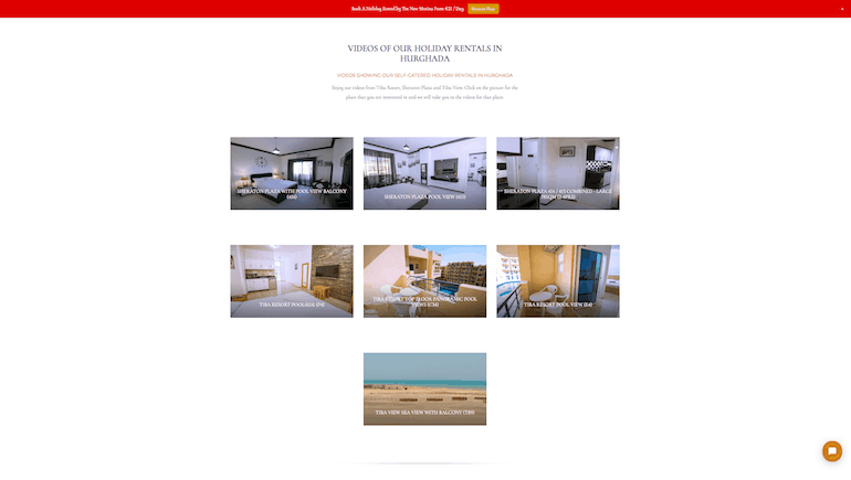 Videos Of Our Holiday Rentals In Hurghada at Tiba VIew, Sheraton PLaza and Tiba Resort - Book Online on www.apartmentsinhurghada.com