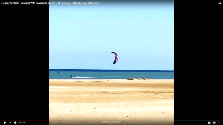 Excellent Kitesurfing 400m Away From Our Vacation Rentals at Tiba Resort and Tiba View in Hurghada - Book on www.apartmentsinhurghada.com