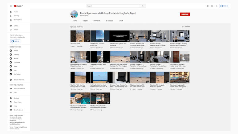 Popular Vacation Rentals in Hurghada on Our YouTube Channel - www.apartmentsinhurghada.com