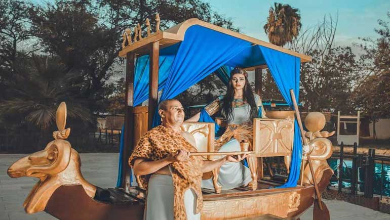 Get Your Picture Taken in Pharaonic Surroundings and Attire at the Hurghada Museum - Book Your Holiday Rental in Hurghada on www.apartmentsinhurghada.com