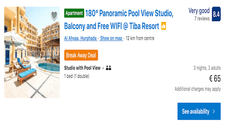 Tiba Resort C34 - A Holiday Rental in Hurghada Close to El Gouna With Panoramic Pool Views and Private Balcony - Book on www.apartmentsinhurghada.com or Booking.com