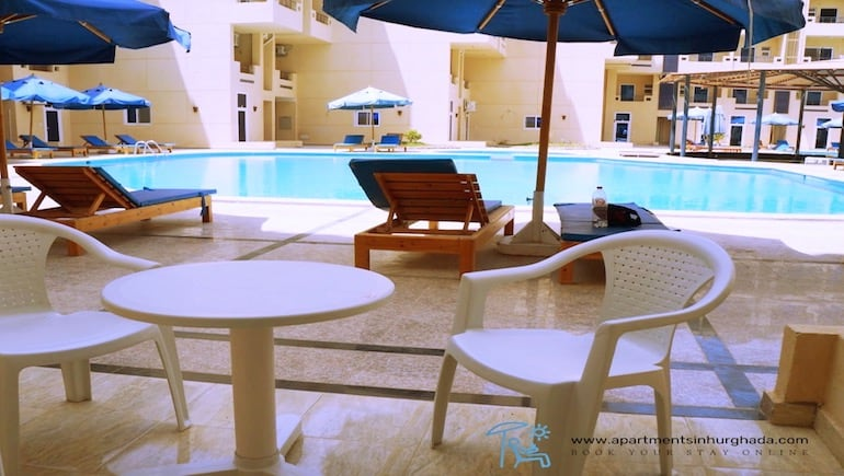 Be A Poolside Genius at Our Poolside Holiday Rental in Hurghada @ Tiba Resort - Book Online - wwwapartmentsinhurghada.com