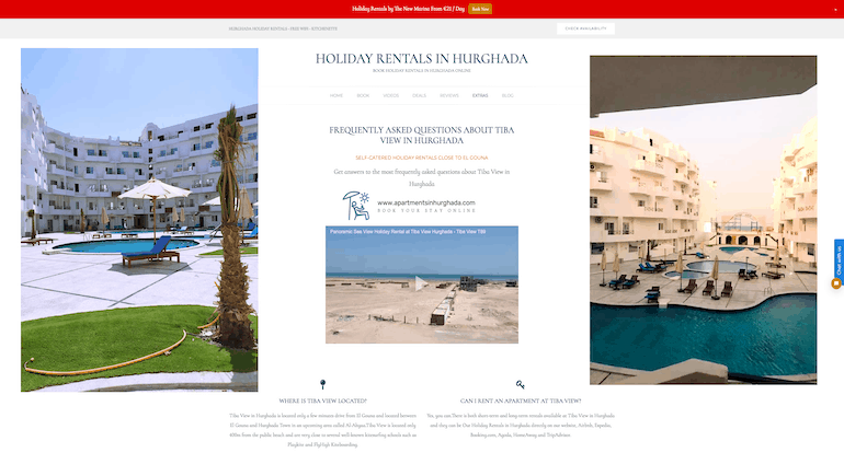 Frequently Asked Questions About Tiba View in Hurghada - Book Your Holiday Rental in Hurghada at Tiba View on www.apartmentsinhurghada.com