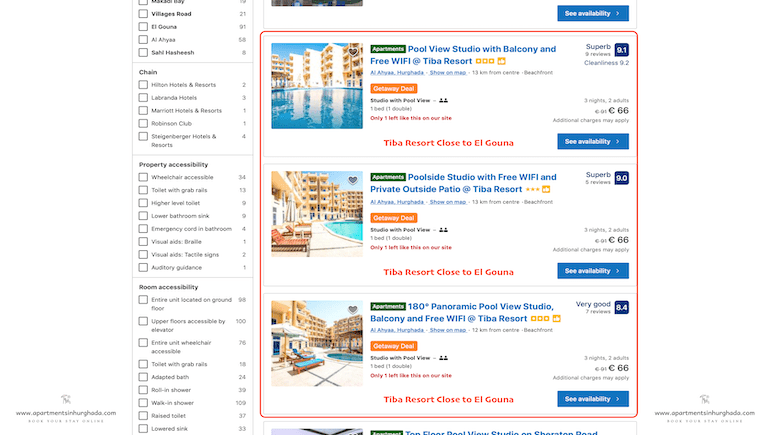 Summer Getaway Deal on Booking.com - Holiday Rentals in Hurghada - www.apartmentsinhurghada.com