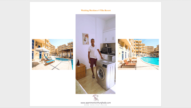 Holiday Rentals With Washing Machines in Hurghada - Book Online - www.apartmentsinhurghada.com
