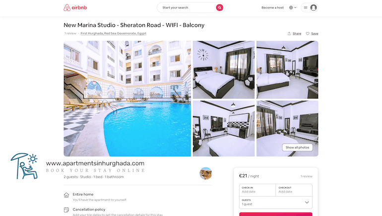 Our First Airbnb Review - Book Your Holiday Rental @ Sheraton Plaza 414 Online - www.apartmentsinhurghada.com