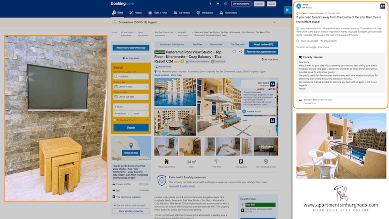 Top Reviews For Tiba Resort C34 - Holiday Rentals in Hurghada - Book Online on www.apartmentsinhurghada.com