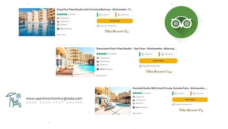 Our Rental Apartments in Hurghada on The 2021 TripAdvisor Top Ten List - Book Your Stay Online - www.apartmentsinhurghada.com -