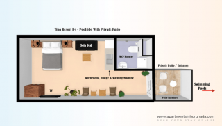 Floor Plan - Tiba Resort P4 - Holiday Rentals in Hurghada Online - www.apartmentsinhurghada.com -