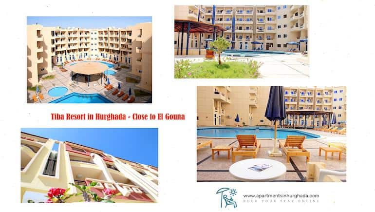 Holiday Rentals in Hurghada at Tiba Resort With Washing Machines - Kitchenettes - Book Online - www.apartmentsinhurghada.com -