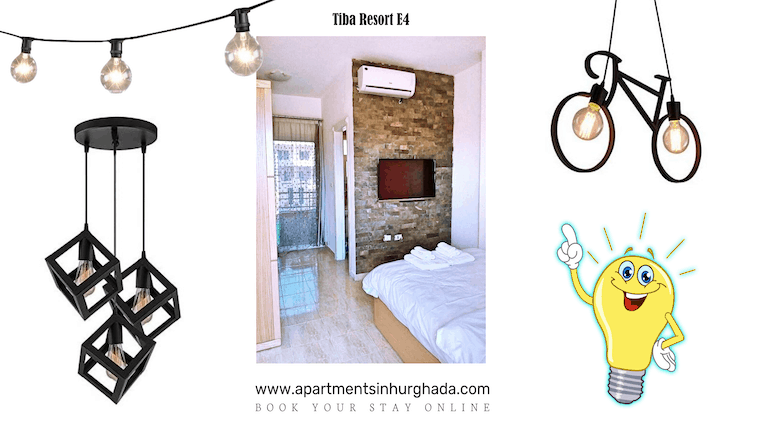 New Lights in Our Holiday Rentals - Book Your Stay Online - www.apartmentsinhurghada.com -