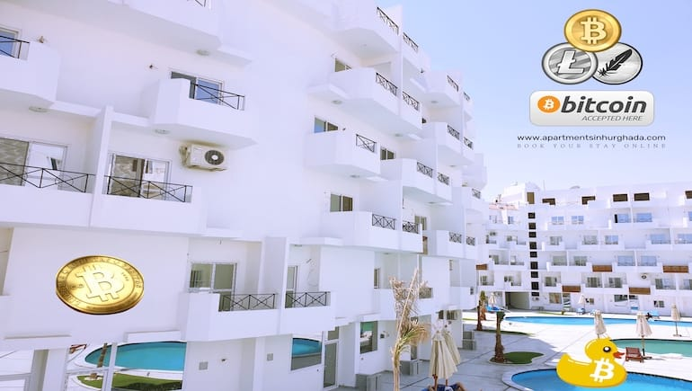 Pay With Crypto - Award-Winning Holiday Rentals in Hurghada - Book and Pay Securely Online - www.apartmentsinhurghada.com -