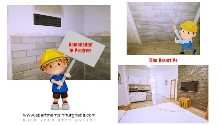 Remodeling Starts in Tiba Resort P4 - Book Your Holiday Rental in Hurghada Online - www.apartmentsinhurghada.com -