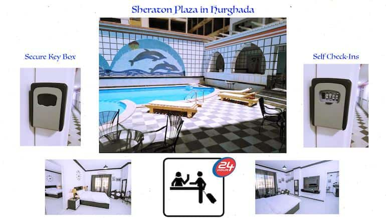 Self-Check-Ins and Flexible Arrival and Departure Terms - Holiday Rentals in Hurghada @ Sheraton Plaza - www.apartmentsinhurghada.com -