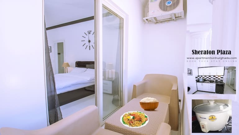 Holiday Rentals in Hurghada With Rice Cookers and Kitchenware - Book Online - www.apartmentsinhurghada.com -