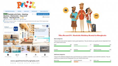 Book A Poolside Vacation Rental in Hurghada - Tiba Resort P4 - Great And Friendly Host Team - Book on www.apartmentsinhurghada.com -