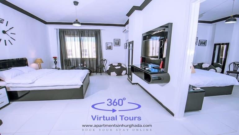 360° Virtual Tours Of Our Holiday Rentals in Hurghada