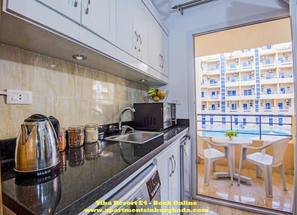 Tiba Resort E4 - Award-Winning Short-Term Vacation Rental With Pool View Balcony - Close to El Gouna - Book on www.apartmentsinhurghada.com -
